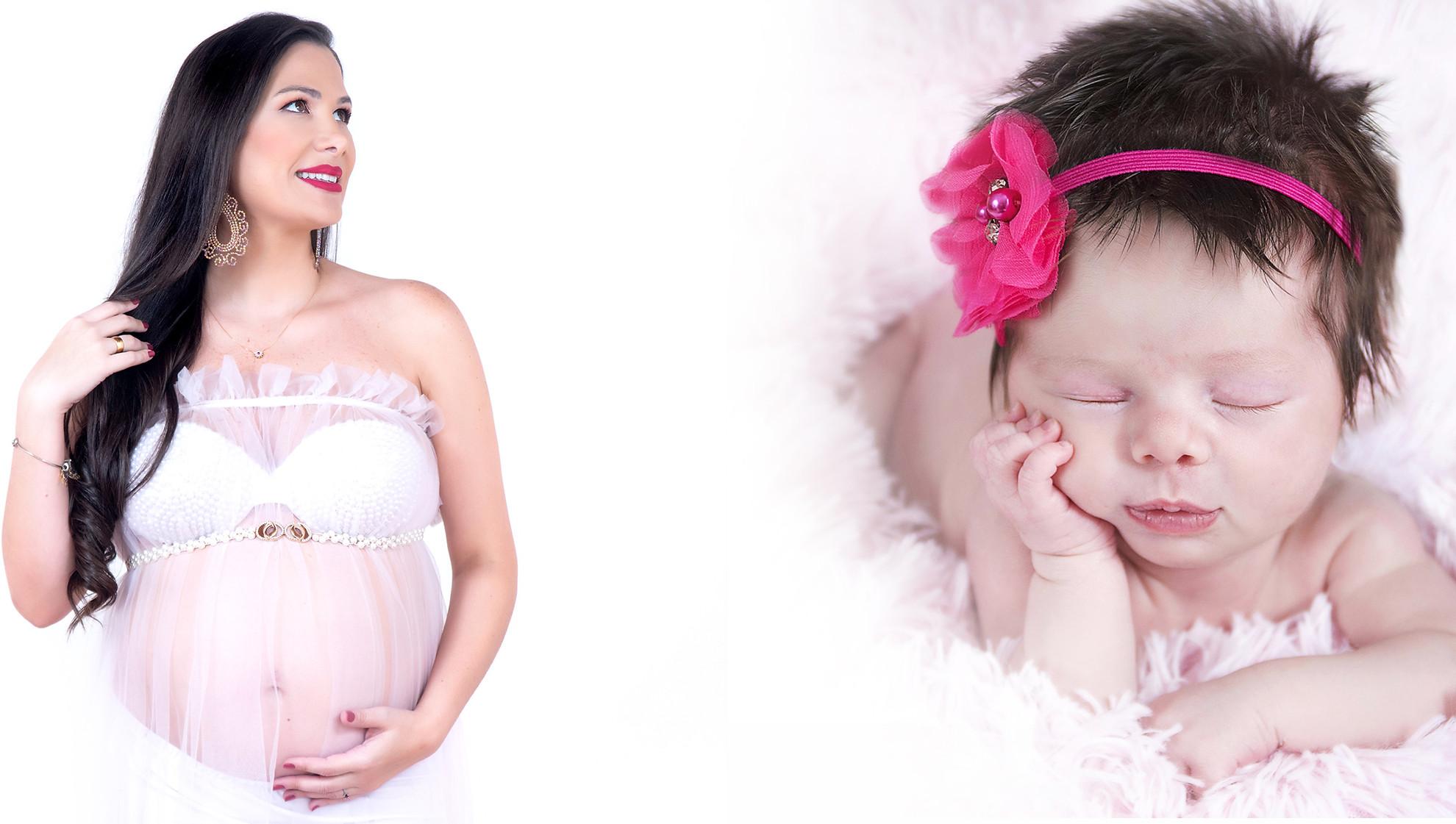 Ensaio fotográfico gestante e newborn