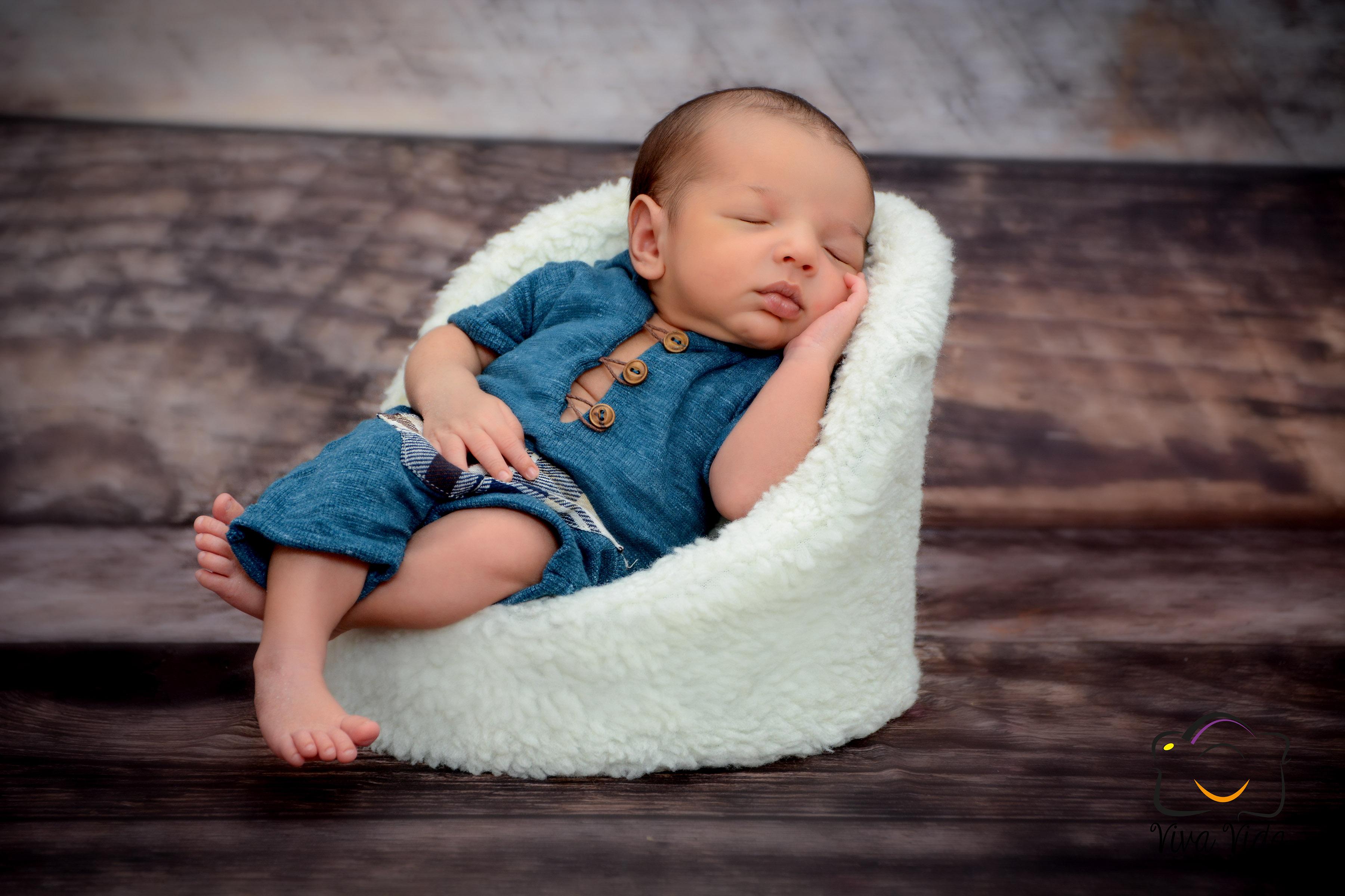 Ensaio newborn em sua residência