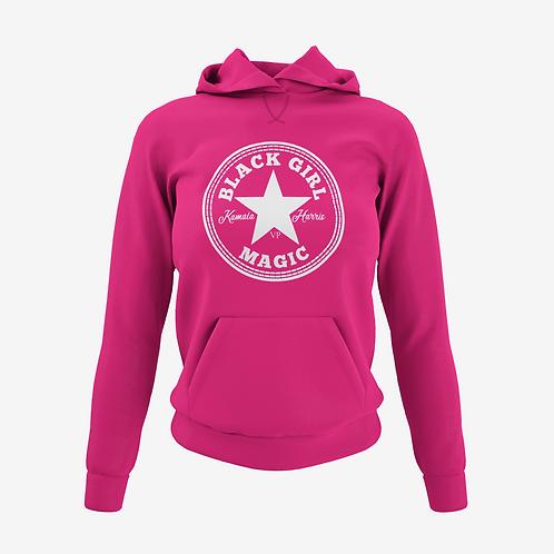Kamala Edition Black Girl Magic  Hoodie Pink / White