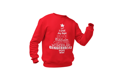 Ohhh Christmas Tree Sweatshirt Red