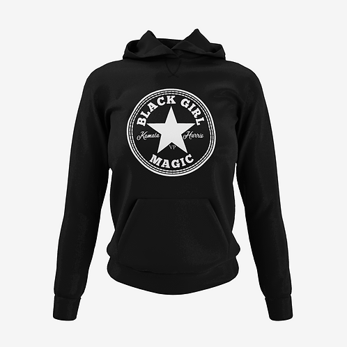Kamala Edition Black Girl Magic  Hoodie Black / White