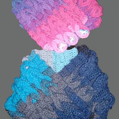 Child Size Braided Cowl - also known as Jonah's Cowl