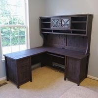 Wayfair Wood L-Desk with Hutch