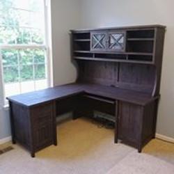 Wayfair Wood L-Desk with Hutch