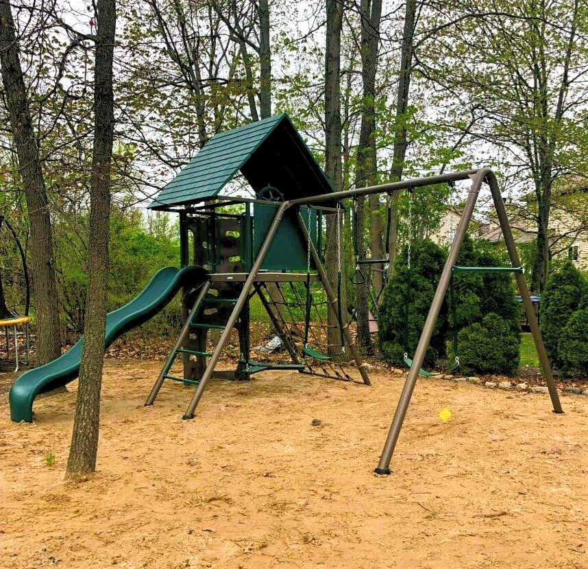 Lifetime A-Frame Metal Swingset
