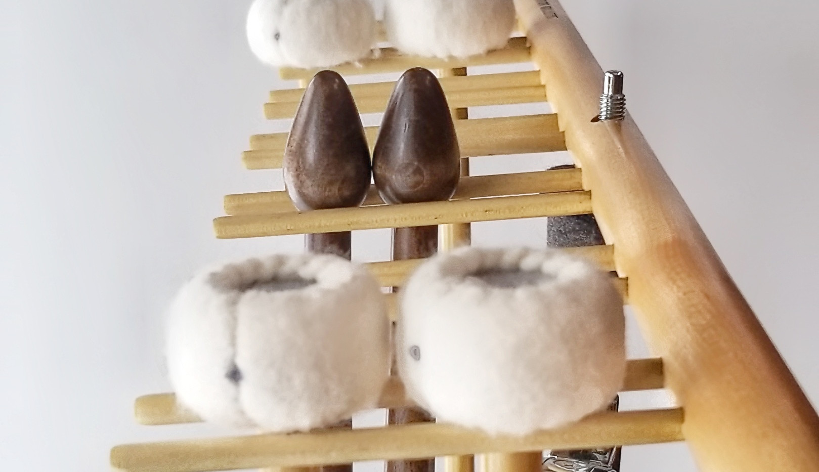 This professional percussion mallet rack is made out of Canadian Maple and is designed to hold up to 8 pairs of mallets (8 slots). This mallet rack is intended to hold timpani mallets and other percussion sticks such as: Marimba mallets, suspended cymbal mallets, and many others.
