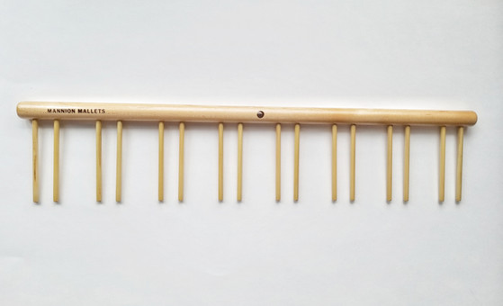 This professional percussionmallet rackis made outof Canadian Maple and is designed to hold up to 8 pairs of mallets (8 slots). This mallet rack is intended to hold timpani mallets and other percussion sticks such as: Marimba mallets, suspended cymbal mallets, and many others.