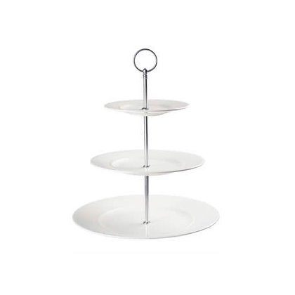 Athena Wide Rim 3 Tier Plate Stand