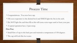 Process Time 1st Pan