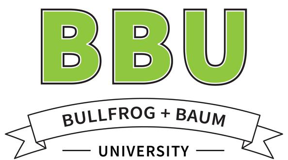 Bullfrog + Baum University Logo