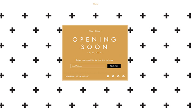 Coming Soon website templates – Store Coming Soon