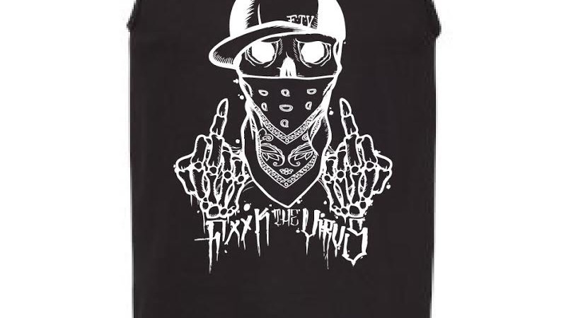 F The Virus Men's Tank Top Larger Sizes Only