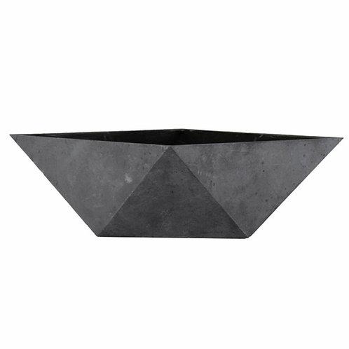 Deco Faceted Bowl - Faux Concrete