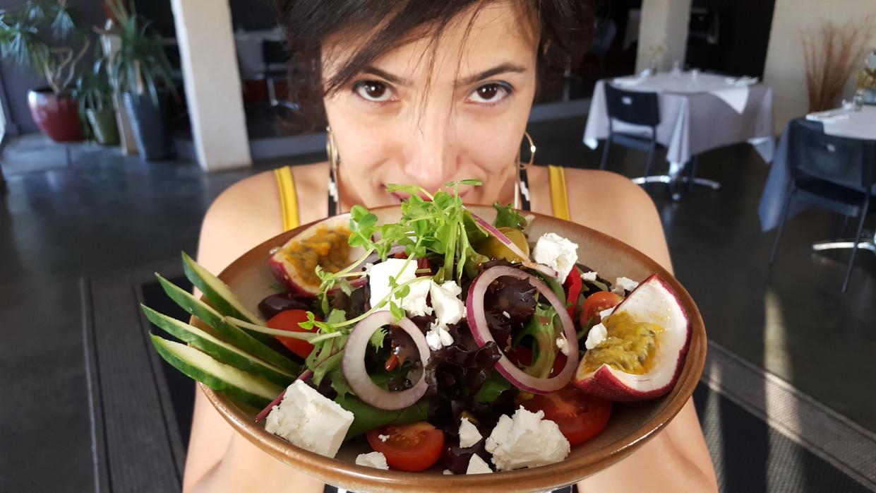 Tala with Summer Salad