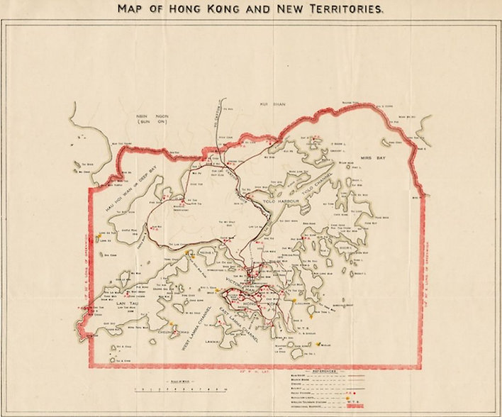 Map of Hong Kong and New Territory (1902