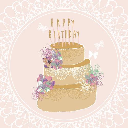 Christine gardner design studio happy birthday card birthday happy birthday card birthday card birthday cake card floral birthday card bookmarktalkfo Image collections