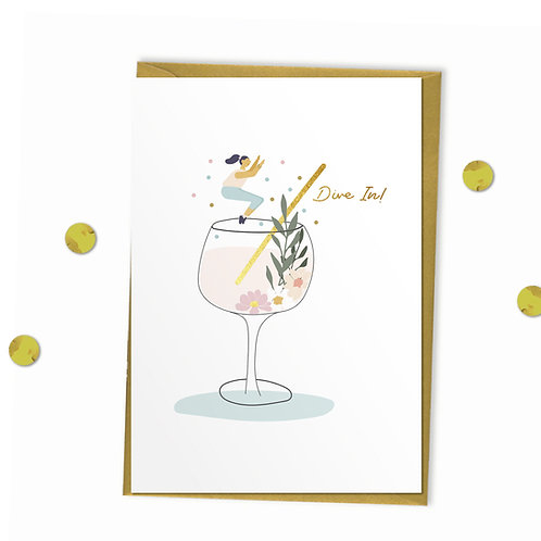 Dive In - Celebration Card, Birthday Card, Encouragement Card