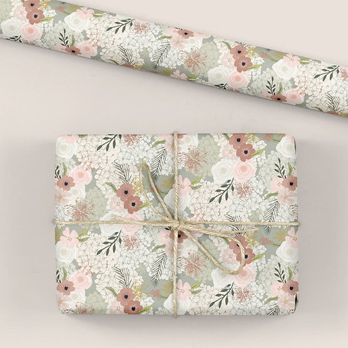 Floral Wrapping Paper / Gift Wrap - Garden Party - Blooms