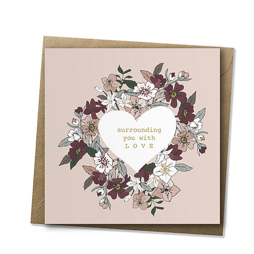 L O V E - Care Card, Encouragement Card, Love Card