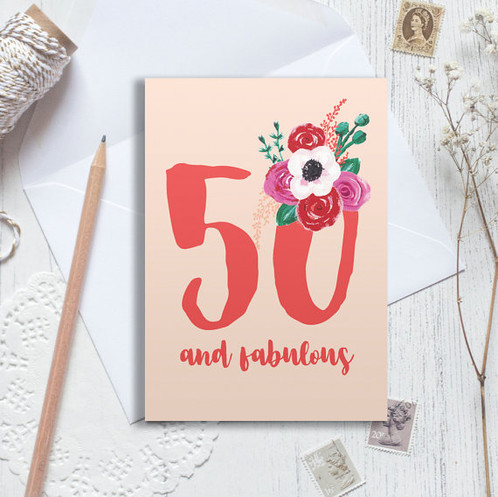 Personalised 50th Birthday Card 50 Happy