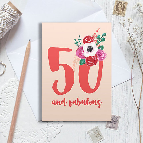 Christine Gardner Design Studio – Cards 50th Birthday