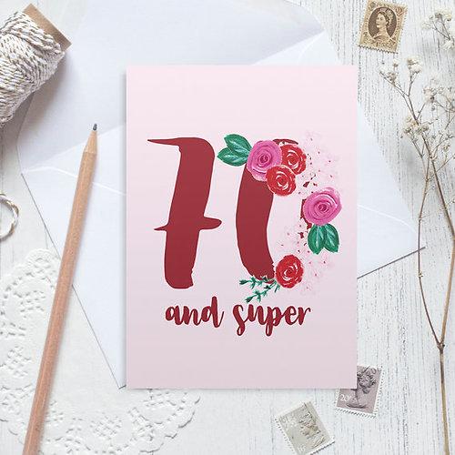 Christine Gardner Design Studio – Happy 70th Birthday Cards