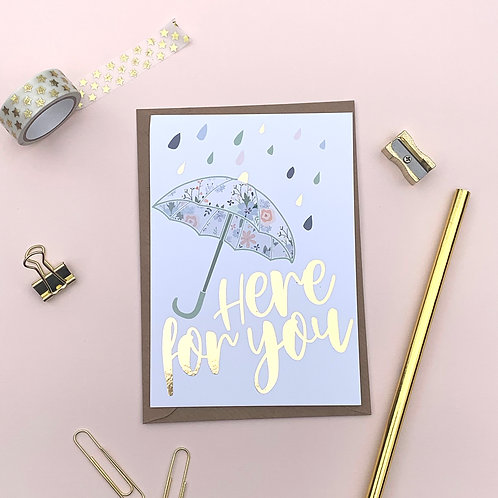 6 Rainy Day - Bereavement Card, Thinking of you Card, Get Well Soon Card