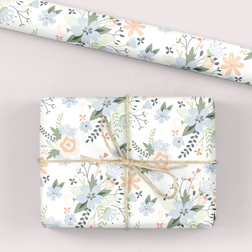 Blooming Marvellous wrapping paper in White