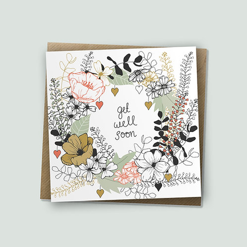 Surrounding You With Love - Get Well Soon Card, Encouragement Card