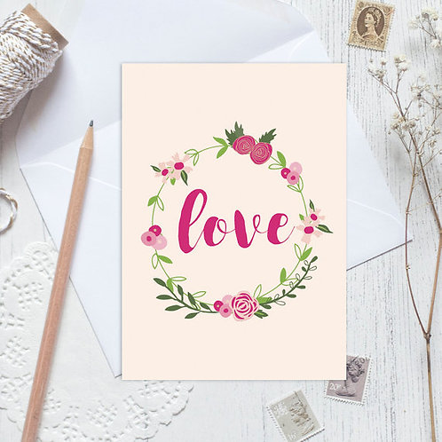 Wedding card, anniversary card, with love card, engagement card