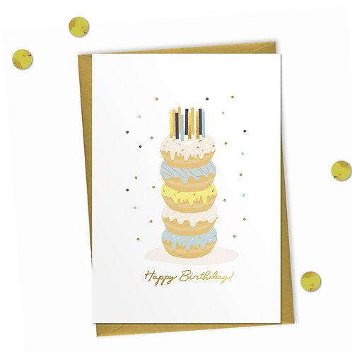 Doughnut Cake - Birthday Card
