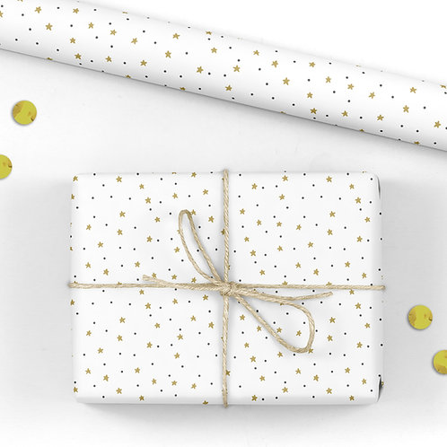 6 Birthday Star Wrapping Paper / Gift Wrap - Harriet's Party