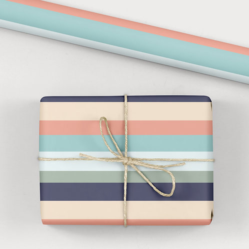 6 Birthday Wrapping Paper / Gift Wrap - Good Times Cool Stripes