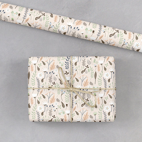 6 Floral Wrapping Paper / Gift Wrap - Blooming Marvellous - Ditsy Blush