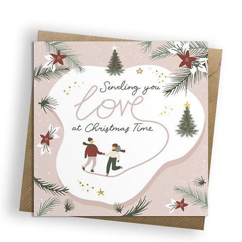 Christmas Joy - Skating, Christmas Card
