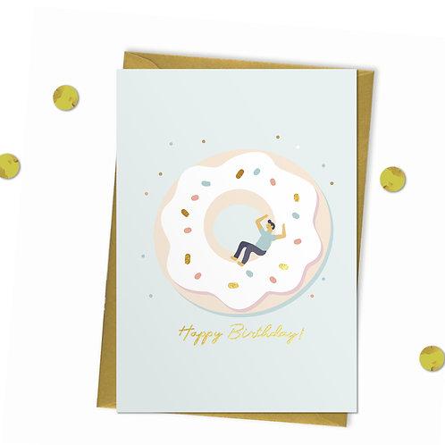 Doughnut Day - Birthday Card, doughnut birthday card