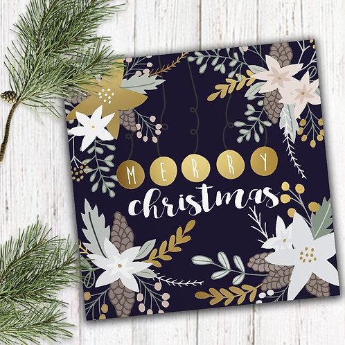6 packs of Christmas Flowers - Winter, Set of 8 Christmas cards