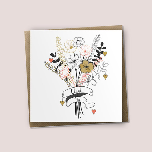 Thanking You A Bunch - Thank You Card