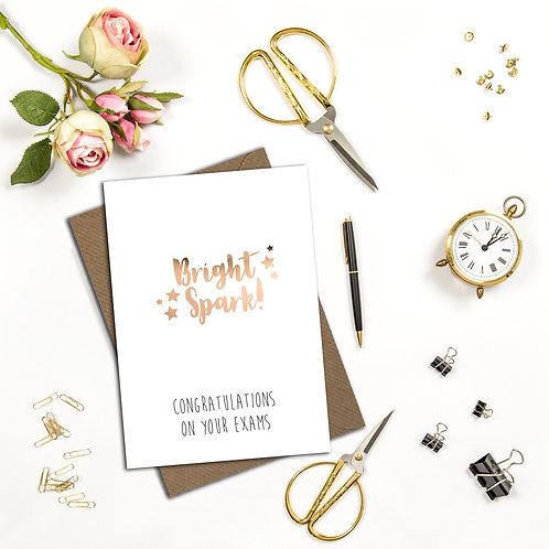 Personalised congratulations on your exams card, school leaver card