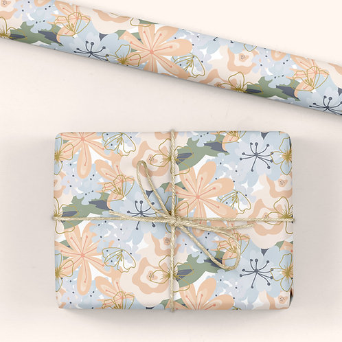 Floral Wrapping Paper / Gift Wrap - Blooming Marvellous - Burst