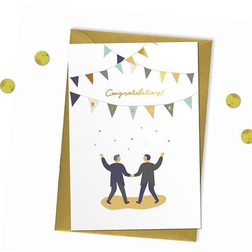 Congratulations Mr & Mr - Wedding Card