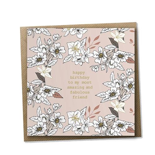 Amazing Friend - Birthday Card, Birthday Wishes, Happy Birthday Card