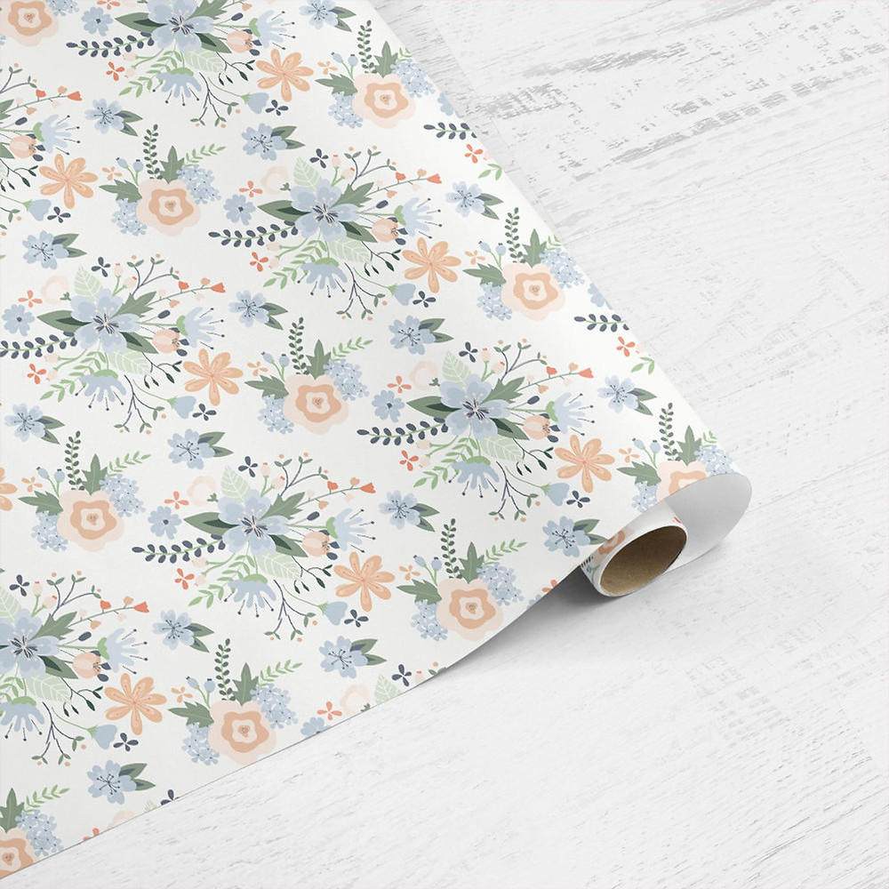 White floral wrap from Christine Gardner design
