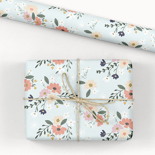 6 Floral Wrapping Paper / Gift Wrap - Good Times Floral