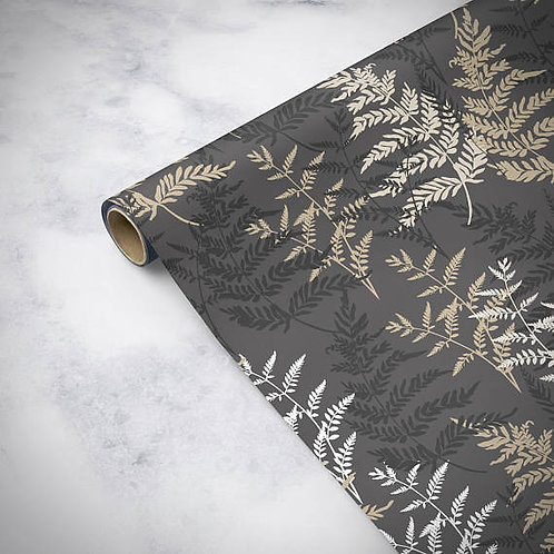 Luxury fern birthday wrapping paper, gift wrap, birthday gift wrap