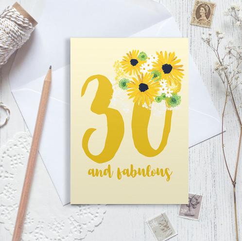 30th birthday card 30 birthday card happy 30th birthday – Personalised Birthday Card