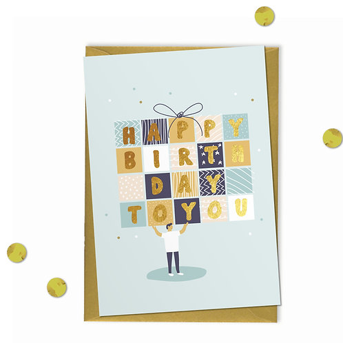 Party Parcel - Birthday Card