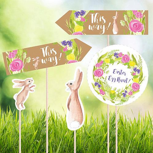 Easter egg hunt printable signs, easter egg hunt printables, DIGITAL DOWNLOAD