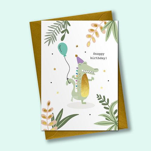 6 Snappy Birthday - Birthday Card, Celebration Card
