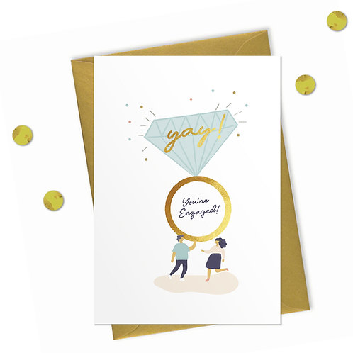 You're Engaged! - Engagement Card